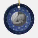 Starry Night Photo Keepsake Christmas Ornaments