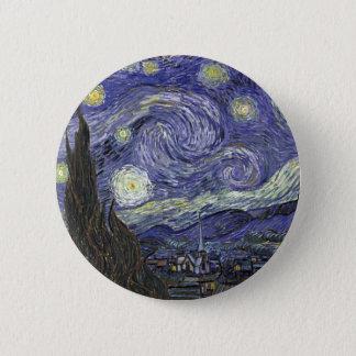Starry Night Pinback Button