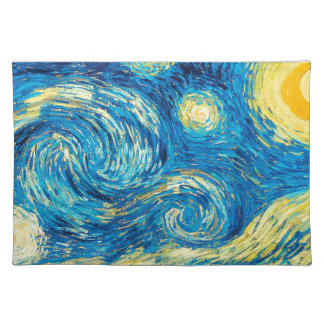 Starry Night Placemat Cloth Placemat