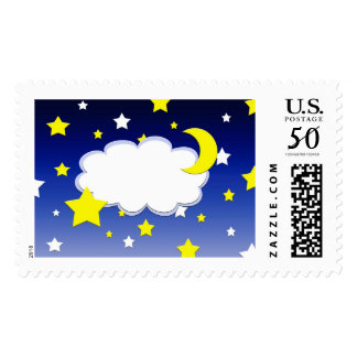 Starry night postage