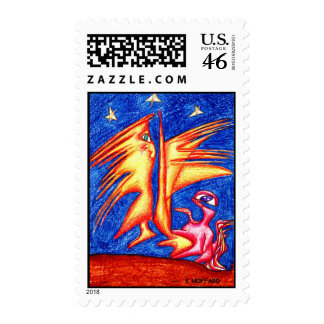 """Starry Night"" Postage Stamp"