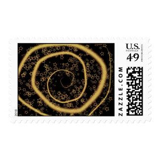 Starry night postage stamp