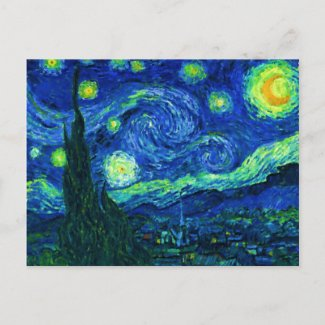 Starry Night Postcard postcard