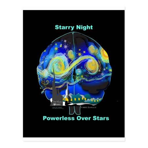 Starry Night Powerless Over Stars Postcard