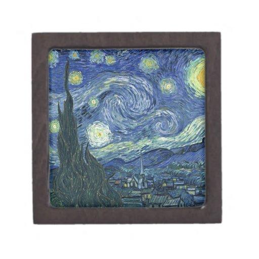 Starry night premium trinket box