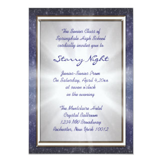 Starry Night Prom Invitations