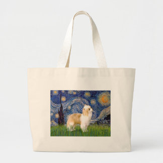 Starry Night - Puff Chinese Crested (cream) Canvas Bags