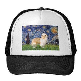 Starry Night - Puff Chinese Crested (cream) Trucker Hat