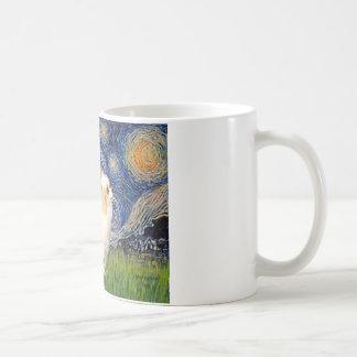Starry Night - Puff Chinese Crested (cream) Mug