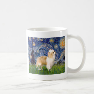 Starry Night - Puff Chinese Crested (cream) Coffee Mugs
