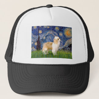 Starry Night - Puff Chinese Crested (cream) Trucker Hat