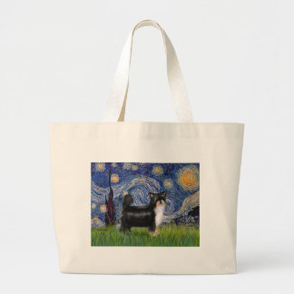 Starry Night - Puff Chinese Crested (tri color) Bag