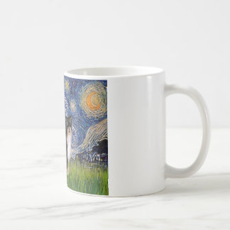 Starry Night - Puff Chinese Crested (tri color) Mug