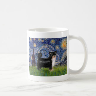 Starry Night - Puff Chinese Crested (tri color) Coffee Mugs