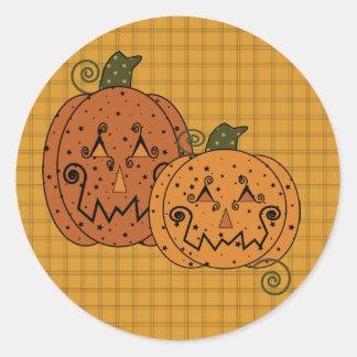 Starry Night Pumkins Sticker