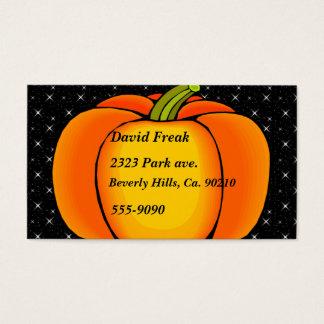 Starry Night Pumpkin Business Card