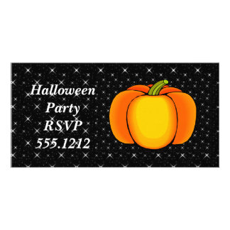 Starry Night Pumpkin Photo Card