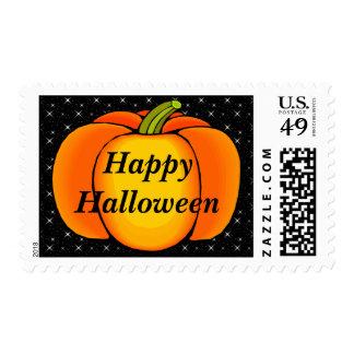 Starry Night Pumpkin Postage Stamp