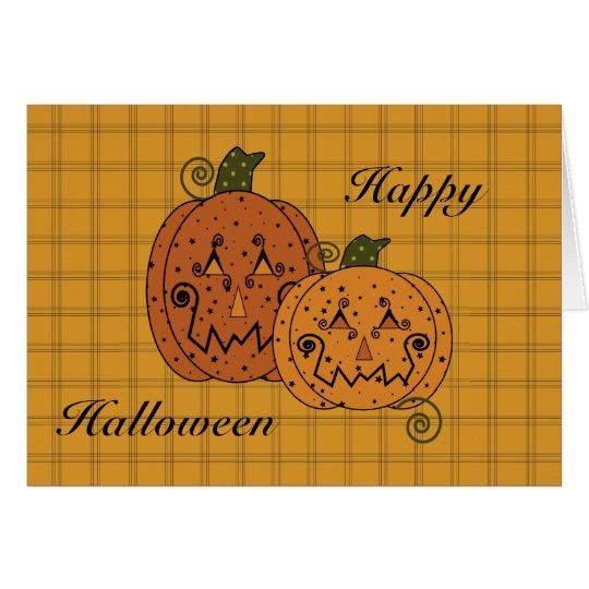 Starry Night Pumpkins Card
