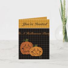 Starry Night Pumpkins Invitation card
