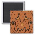 Starry Night Pumpkins Magnet magnet