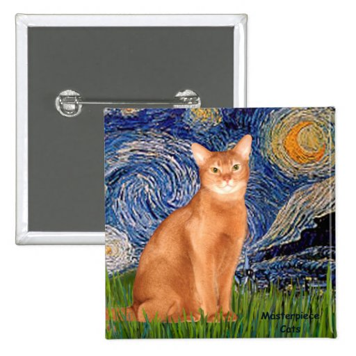 Starry Night - Red Abyssinian Button