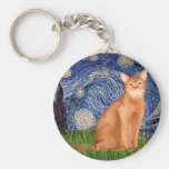 Starry Night - Red Abyssinian Keychains