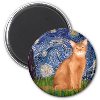 Starry Night - Red Abyssinian Magnet