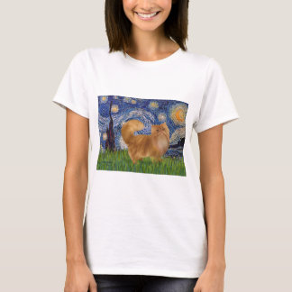 Starry Night - Red Persian cat T-Shirt