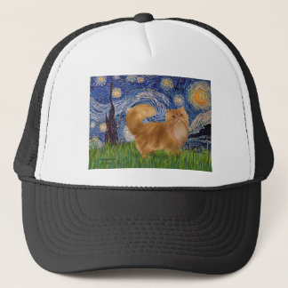 Starry Night - Red Persian cat Trucker Hat