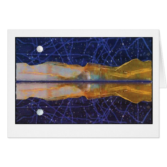 Starry Night Reflection Card