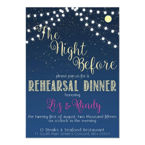 Starry Night Rehearsal/Wedding Invitation