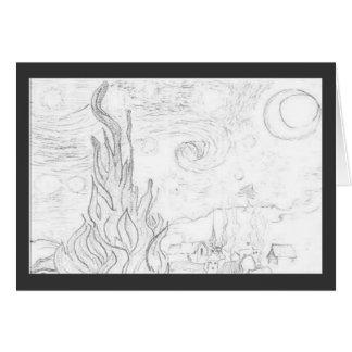 Starry Night Remake-Vincent van Gogh Card