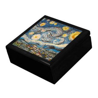 Starry Night repaint after Van Gogh Wooden Box