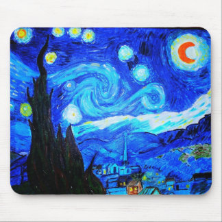 Starry Night Reproduction Mouse Pad