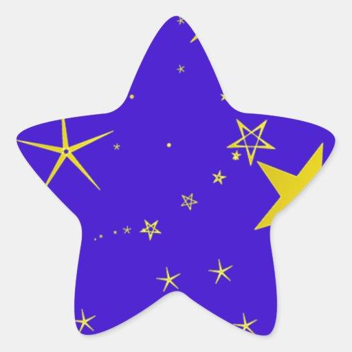Starry_Night resized.PNG Pegatina En Forma De Estrella