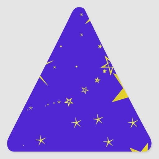 Starry_Night resized.PNG Triangle Sticker