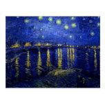 Starry Night Rhone by Van Gogh Postcard