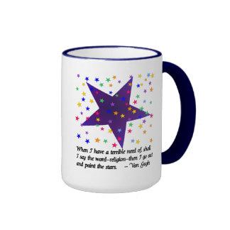 Starry Night Ringer Mug