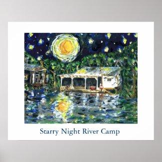 Starry Night River Camp print