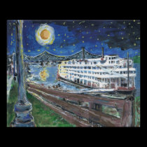 Starry Night Riverboat posters