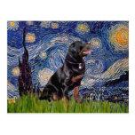 Starry Night - Rottweiler (#6) Post Cards