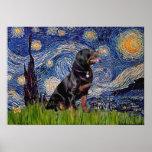 Starry Night - Rottweiler (#6) Poster