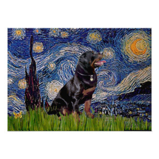 Starry Night - Rottweiler (#6) Poster