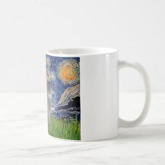 Starry Night - Russian Blue cat Coffee Mugs
