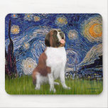 Starry Night- Saint Bernard Mouse Pads