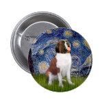 Starry Night- Saint Bernard Pinback Buttons