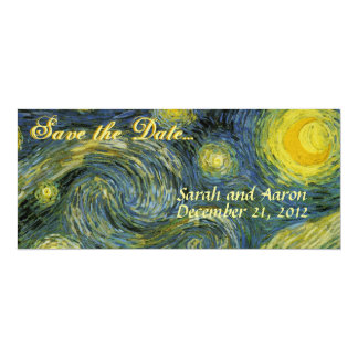 Starry Night Save the Date Card