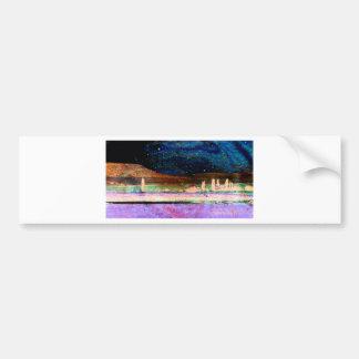 Starry Night Scape Bumper Sticker