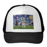 Starry Night - Schnauzer #8 Mesh Hat